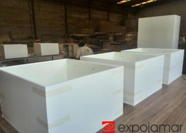 Proyectos Expojamar. Krion para Porcelanosa Grupo